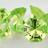 Homeford FPF0750422AG Acrylic Crystal Large Diamond Table Scatter, 1-3/8'', 50 Pack, Apple Green