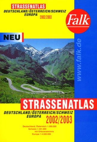 Falk Pläne, Straßenatlas Deutschland/Österreich/Schweiz/Europa 2001/2002. 1:300.000, Europa 1:4.500.000