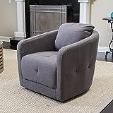 Bernhoft | fabric Swivel Club Chair | in Charcoal Ash