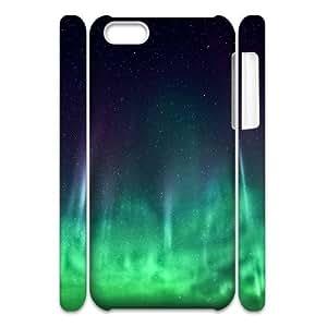 3D iPhone 5C Case Amazing Aurora Hardshell For Girls, Apple Iphone 5c Case, [White]