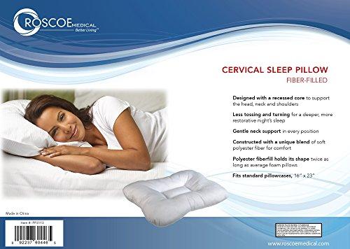 Roscoe Fiber Filled Cervical Indentation Pillow