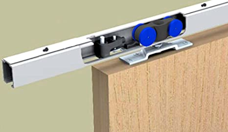 Mantion – Herraje para SAF 120 D de 200 cm para puerta corredera hasta 120 kg