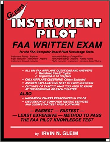 Instrument Pilot FAA Written Exam: N  Glen Irvin, Irvin, N