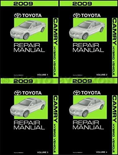 2009 toyota camry hybrid repair shop manual original 4 volume set rh amazon com 2009 Toyota Camry Service Manual 2009 Toyota Camry Engine Diagram