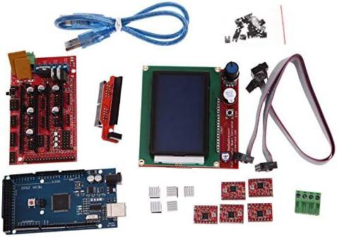 Blue-Ocean-11-3D Printer Kit Parts RAMPS 1.4 MEGA2560 A4988 LCD 12864 Controller Board For Arduino Compatible Mega 2560 R3 for RepRap 51G6CG9LwTL