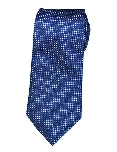 - Extra Long Fashion Tie by Towergem Men's Woven Jacquard Handmade XL Necktie (Navy blue)