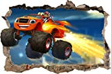 Blaze And The Monster Machines AJ Smashed Wall 3D Decal Removable Wall Sticker H172, Large