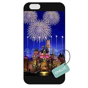 Onelee(TM) - Customized The Disney Castle iPhone 6 Plus 5.5 Hard Plastic case cover - Black 08
