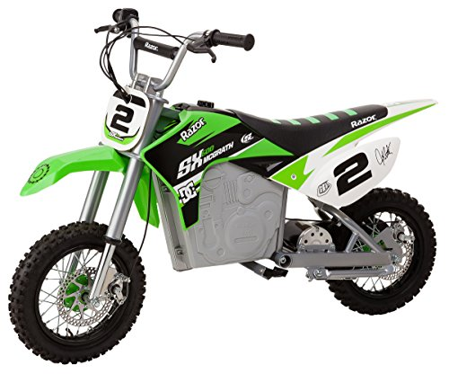 Razor SX500 Mcgrath Dirt Rocket Electric Motocross Bike, Green (Best 250 Motocross Bike)
