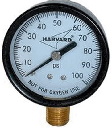 "American Granby EIPG1002-4L 0-100 PSI  Pressure Gauge Black 2/""X 1//4/"""