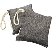 LIFESTYLE BAMBOO Bamboo Charcoal Air Purifier Bags - 2 pack - 200 grams - Odor Absorber - Deodorizer - Odor Eliminator - Air Freshener for Cars - Auto - Pets - Laundry - Closet - Unscented - Non-Toxic