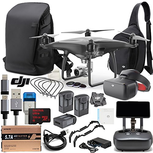 DJI Phantom 4 Pro+ Obsidian Quadcopter Drone Fly All Day Bundle