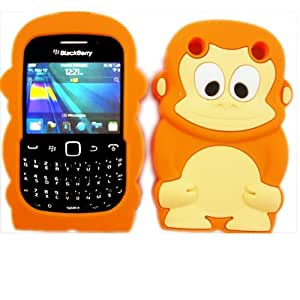 Chimpanzee Silicona Concha Caso Cubrir Para Blackberry Curve 9220 9320 / Orange