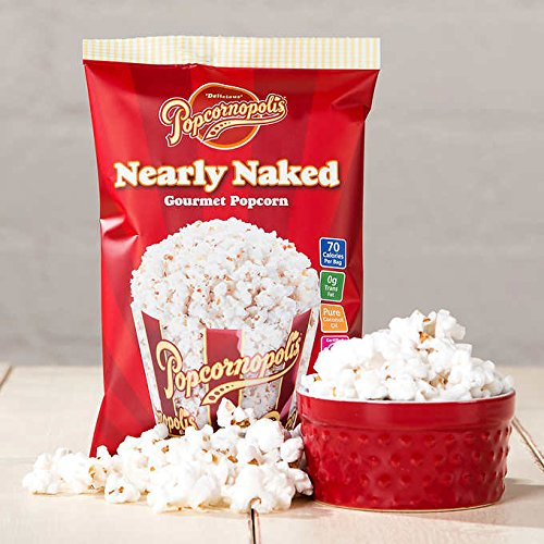 Popcornopolis Nearly Naked Popcorn 0.55 oz, 40-count