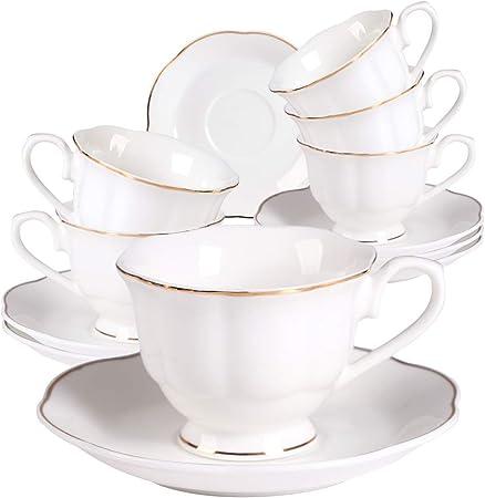 Café Espresso Tazas y Platillos 80ml 12 unidades Conjunto de Vidrio con cucharillas Tazas Nuevo