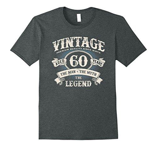 Mens Vintage Premium Dude 60 Years Old Birthday Gift Made In 1958 XL Dark Heather