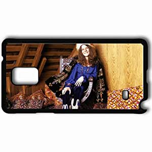 Personalized Samsung Note 4 Cell phone Case/Cover Skin Janis Joplin Girl Smile Pillows Roof Black