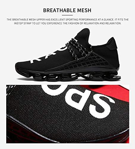 e45dec189d236 JIYE Men's Running Sports Shoes Free Transform Flyknit Fashion Casual  Sneakers,Black,11US-Men/12US-Women