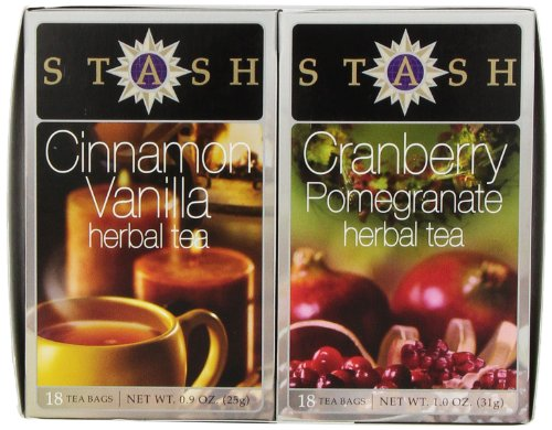 Stash Tea Cinnamon Vanilla - Cranberry Pomegranate Gift Set, 2 ()