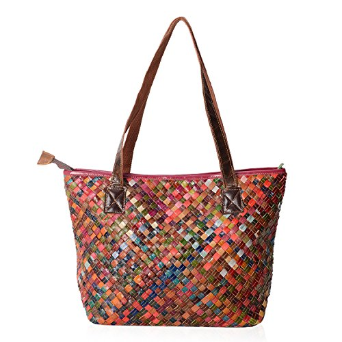 Woven Leather Handbags - 2