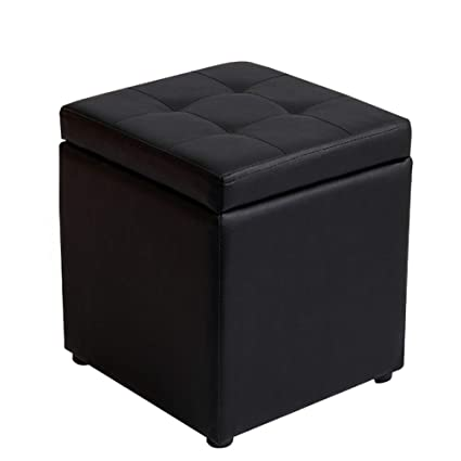 Awe Inspiring Huoxu Storage Ottoman Memory Foam Seat Faux Leather Small Onthecornerstone Fun Painted Chair Ideas Images Onthecornerstoneorg