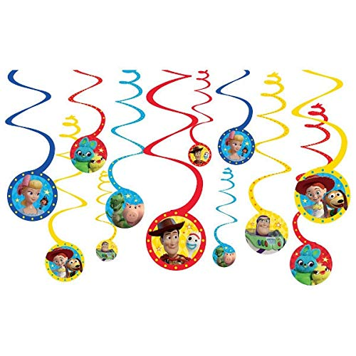Toy Story 4 Hanging Swirl Decorations (12pc)