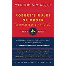 Webster's New World Robert's Rules of Order Simplified and Applied, Third Edition