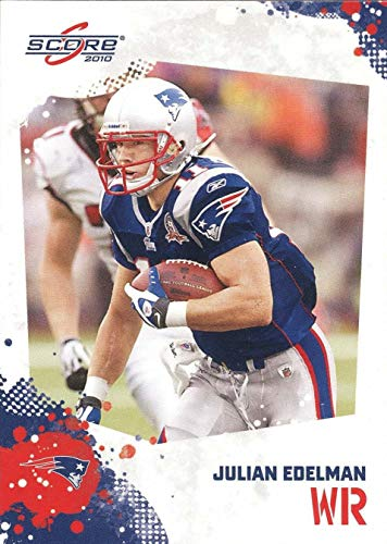 Julian Edelman 2010 Score NFL Football Mint Rookie Card 172 Picturing This New England Patriots Star in His Blue Jersey