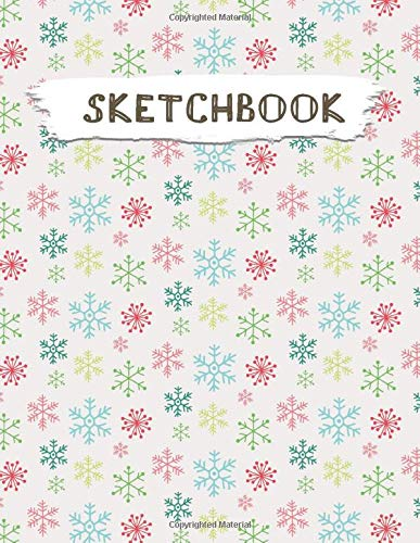 Sketchbook  Christmas Pattern Practice Drawing Paint Write Doodle Large Blank Pages 8.5 X 11 For Notes Sketching Creative Diary Manga And Journal  Volume 68