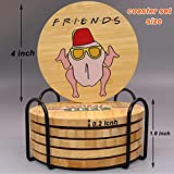 Friends TV Show Gifts Coasters for Drinks,6 Pcs