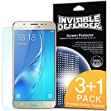 Galaxy J5 Screen Protector, Invisible Defender [MAX CLARITY] Lifetime Warranty Perfect Touch Precision High Definition (HD) Protective Clear Film (4-Pack) for Samsung Galaxy J5 2016