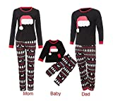 Happyjiu Christmas Holiday Family Matching Sleepwear Pajamas Set Couples Pajamas (100(5T-6T), Kids)