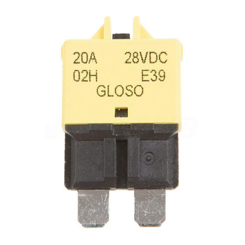 HOUTBY 30A Fuse 12v//24v Fits Circuit Breaker Blade 5-30a Automotive Car Kit Resettable Inline Fuse Holder Protection Stereo Manual Reset