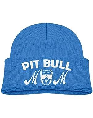 Fashion Pit Bull Mom Printed Baby Boy Girls Winter Hat Beanie
