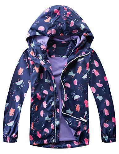 Echinodon Outdoorjas voor kinderen, waterafstotend, winddicht, voor jongens en meisjes, overgangsjas, regenjas, lente en…