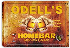 scp3-0687 ODELL'S Home Bar Pub Beer Bar Stretched Canvas Print Sign