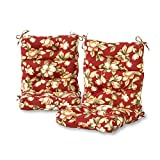Greendale Home Fashions Outdoor High Back Chair Cushion (set of 2), Roma Floral Review