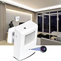 BSTCAM 2.0 megapixel WiFi Hidden Spy Camera Dummy PIR Detector -Pinhole Lens Night Vision Mini Wall HOME Security WiFI Hidden Ip Cameras small PIR Video Recorder Cam with Free 16GB SD Card included