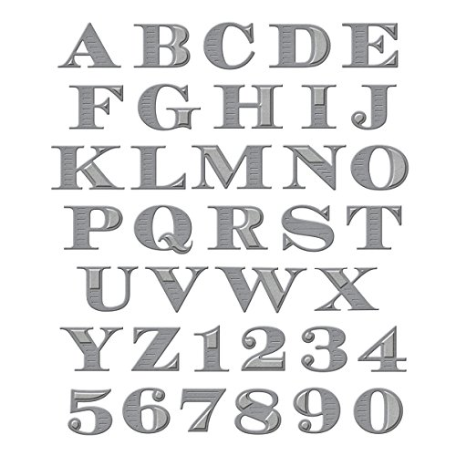 Spellbinders S5-239 Shapeabilities Etched Alphabet, Large Etched/Wafer Thin Dies by Spellbinders