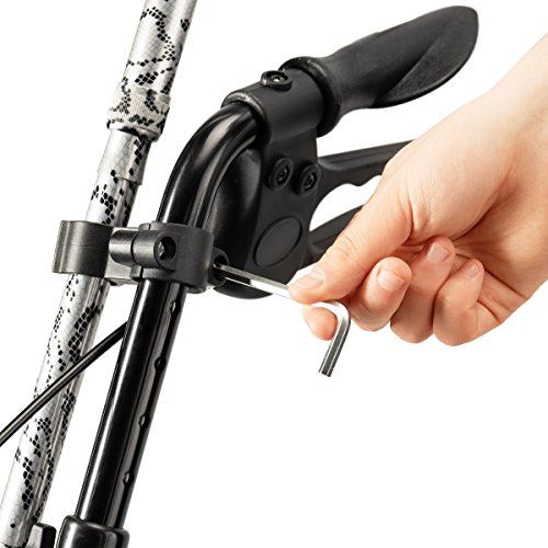 Bodyhealt Cane Holder for Wheelchairs, Rollators, and Crutches - Black by BodyHealt (Image #3)