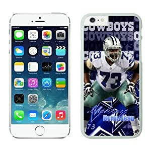 NFL iPhone 6 4.7 Inches Case Dallas Cowboys Mackenzy Bernadeau White iPhone 6 Cell Phone Case KXWFRTYE1248