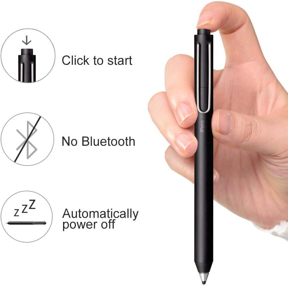ad Alta sensibilit/à 4 sostituibile Punta fine Gomma Punte 2 Millimetri Stili con Magnete fissato Adattatore Attivo dello Stilo capacitiva della Penna Digitale iPens x1