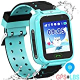 Kids Waterproof GPS Smartwatches Phone - WiFi GPS LBS Tracker Locator 1.4' Touch Screen Wrist Watch with Call Voice Chat Pedometer Alarm Clock for Boys Girls