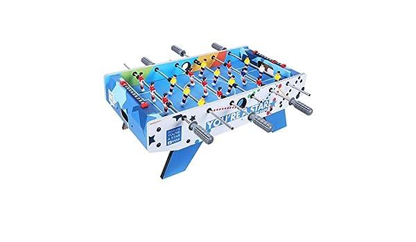 Futbolín Mesa De Fútbol Para El Hogar Juguetes Para Niños De Escritorio Pequeña Mini Máquina De Fútbol 6 Polos Regalo De Cumpleaños Juego Mesa De Fútbol (Color : Blue , Size :