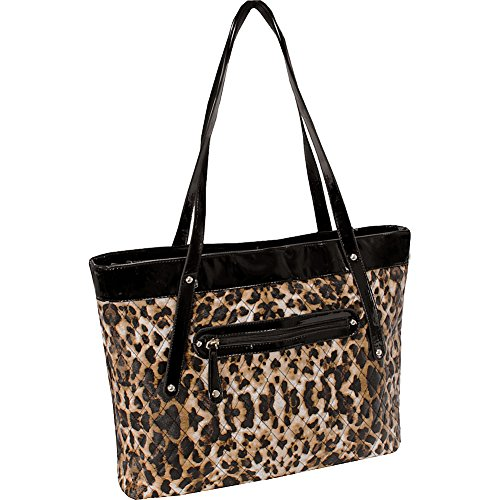 Leopard Quilted Tote - Parinda Women's FIONA Quilted Carry All Tote, Leopard