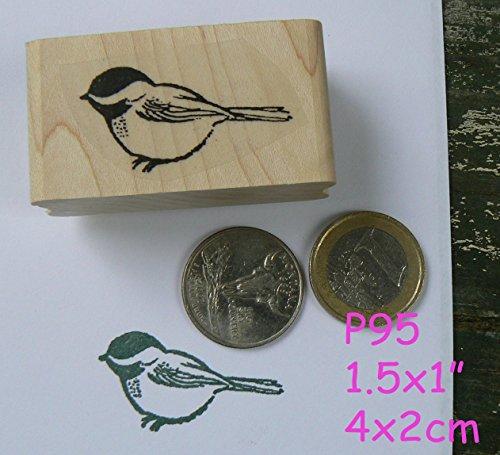 P95 Small chickadee bird rubber stamp