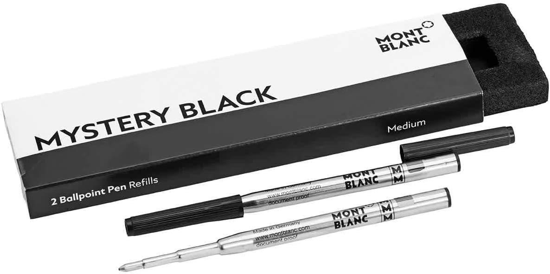 Montblanc 116190 Recambios para esferógrafo de tamaño M – Recargas de alta calidad en color Mystery Black: Amazon.es: Oficina y papelería