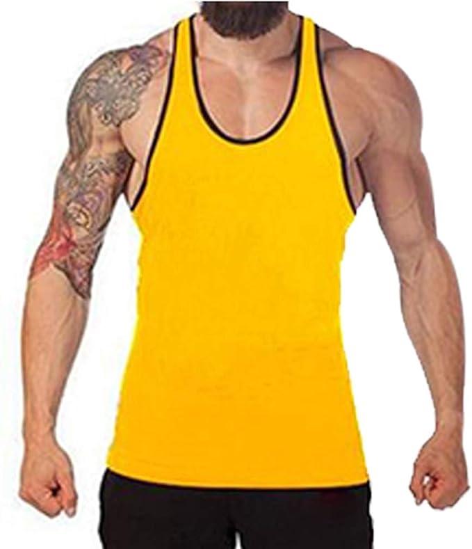 Iron Tanks Men/'s Iron Muscle Tank BlackGym Bodybuilding Training Singlet