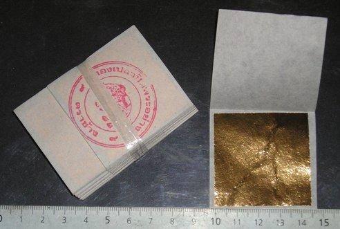 20 Blatt gold blattgold- 24 Karat auf Base 45mm X 45 mm