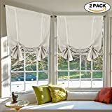 picture sun shade - H.Versailtex Blackout Innovated New Styles Tie Up Shade & Curtain Thermal Insulated Rod Pocket Curtain Panel (Set of 2 Panels, 42